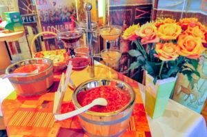 Marmeladen-Auswahl am Frühstücksbuffet