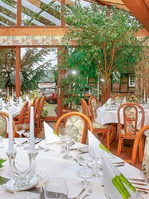 Restaurant im Wintergarten im AKZENT Hotel